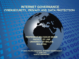 Presentation Slides - Asia Pacific Regional Internet Governance