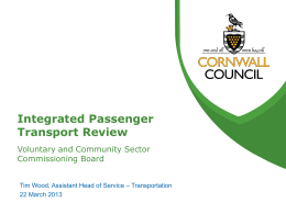 Integrated Passenger Transport Review
