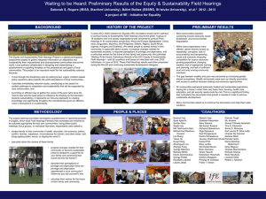 Transdisciplinary participatory action research project brings voices