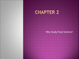 Chapter 2- Food Science