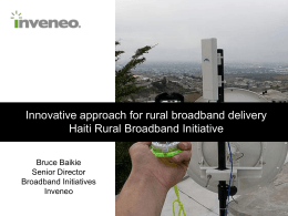 Haiti Rural Broadband Initiative-CANTO