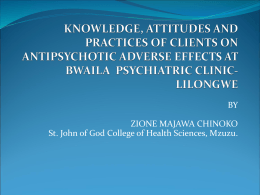 knowledge, attitudes and practices of clients on antipsychotic