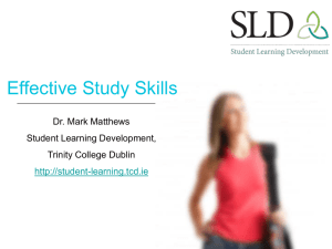 Effective_Study_Skills - Student Learning Development