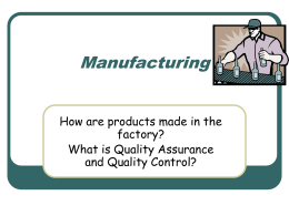 Manufacturing - Crofton Academy