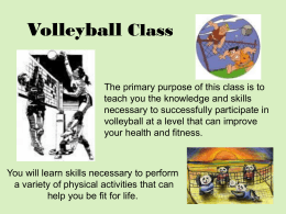Volleyball Class Introduction Presentation
