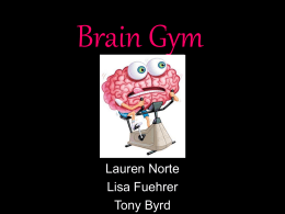 Brain Gym - Dr. Tamerin Capellino