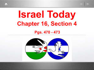 Israel Today Chapter 16, Section 4