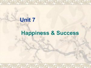 Unit 7 Happiness and Success