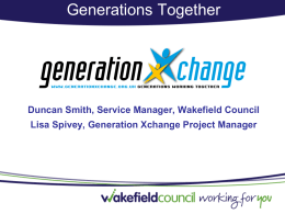 Generations Xchange Wakefield - Centre For Intergenerational