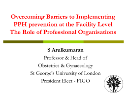 Overcoming barriers to implementation the role of