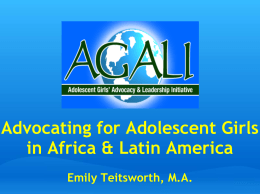 AGALI Presentation - Youth Economic Opportunities