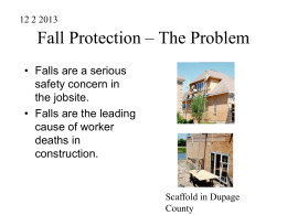 power point is falls in construction