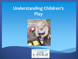 Understanding Children`s Play