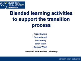 student`s perceptions of a blended learning approach to their
