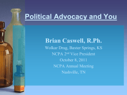Brian Caswell - Advocacy and You