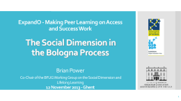 The Social Dimension of the Bologna Process
