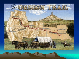 11-1 The Oregon Trail