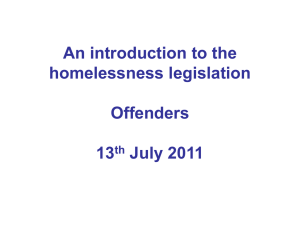 presentation Homelessness Legislation
