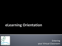 eLearning Orientation 2014/2015