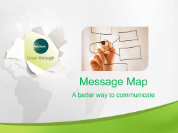 Message Mapping, A Better Way to Communicate