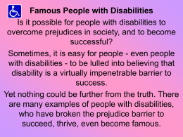 Famous People with Disabilities