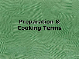 Preparation Term Notes
