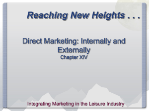 Chapter 14 - Direct Marketing