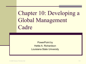 Chapter 1: The Global Manager`s Environment