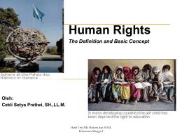 Human Rights: noun - Cekli Setya Pratiwi