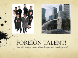 FOREIGN TALENT!