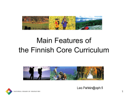 Local Curriculum