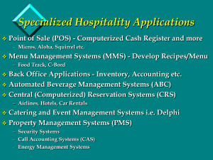 COMPUTER BASED PROPERTY MANAGEMENT SYSTEMS (PMS)