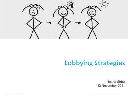 How to develop a lobbying strategy