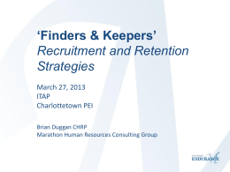 Finders & Keepers Recruitment and Retention Strategies