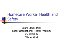 Homecare Worker Health and Safety
