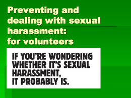 Sexual harassment is… - Volunteering Geelong