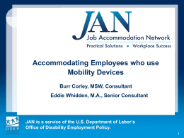 Accommodating Employees with Mobility Impairments