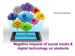 Negative impacts of social media & digital technology on students