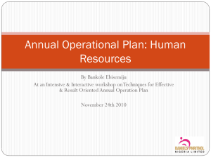 Annual Operational Plan