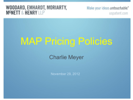 MAP Pricing Policies