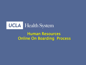 On Boarding Presentation - UCLA Health