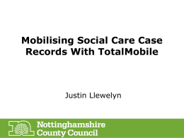 Mobilising Social Care Case Records With TotalMobile