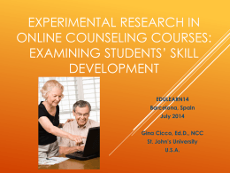 Online Counseling Courses: Evaluating Students