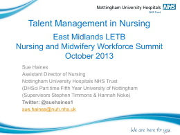 Talent Management in Nursing - Health Education East Midlands
