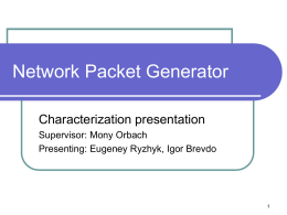 Network Packet Generator - High Speed Digital Systems Lab