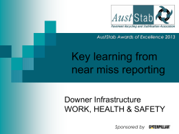 Key Learnings from Near Miss Reporting