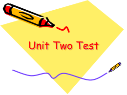 Unit Two Test