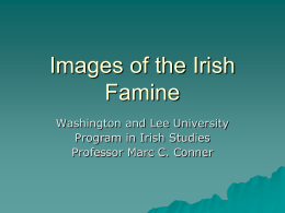 Images of the Irish Famine - Irish Literary Studies