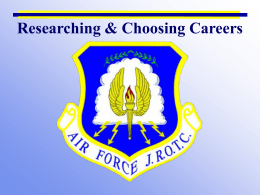 Career Options - Wando AFJROTC