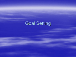 TASS Workshop - Goal Setting
